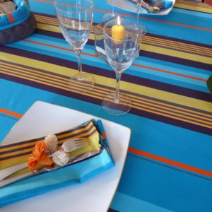 Nappe de table bleue MIREPOIX