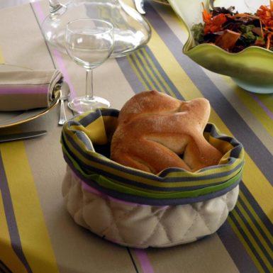 Nappe de table jaune et grise MIREPOIX