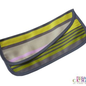 Pochette serviette jaune et grise MIREPOIX