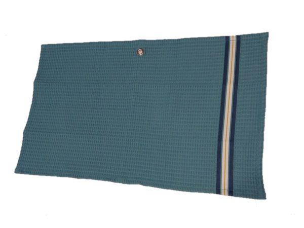 serviette-invite-nid-abeille-bleu
