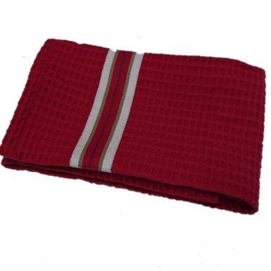serviette-invite-nid-abeille-rouge