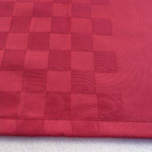 Chemin de table en coton rouge ROQUEFIXADE
