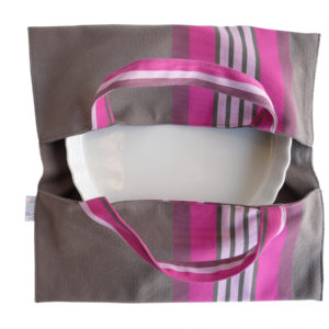 Sac à tarte – Porte Plat anthracite et rose PUIVERT