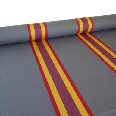 Tissu au mètre en coton damassé rouge PUIVERT