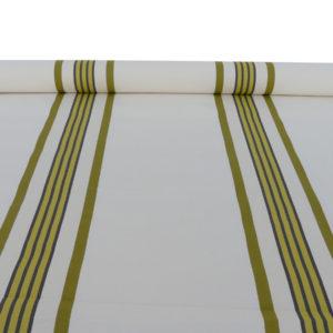 Tissu au mètre en coton damassé vert PUIVERT