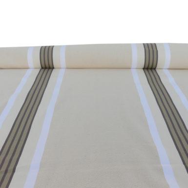 Tissu au mètre en coton et lin damassé naturel PUIVERT