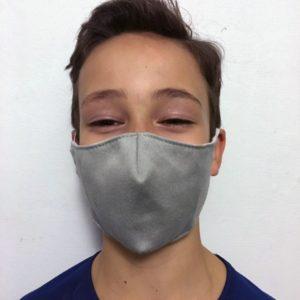 nouveau masque tissu enfant gris