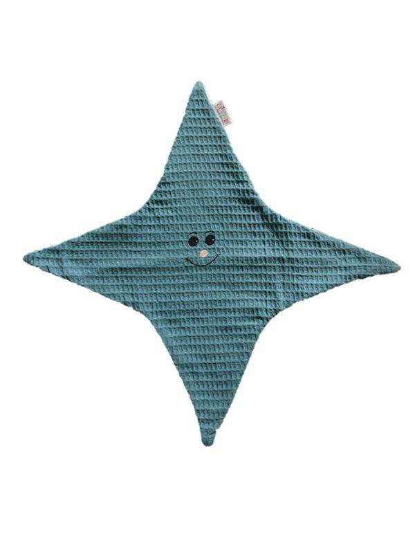 doudou-étoile-bleu-nid-abeille