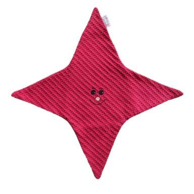 doudou-étoile-rouge-nid-abeille