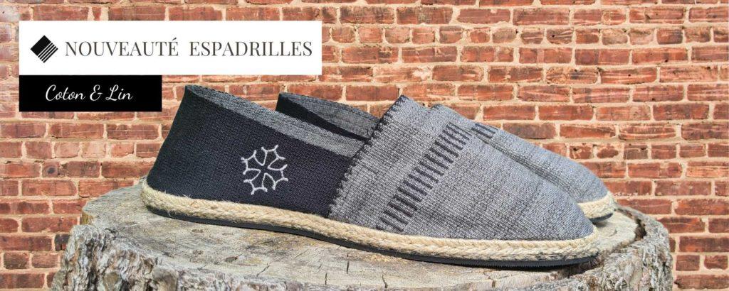 Espadrilles tissu Made in France