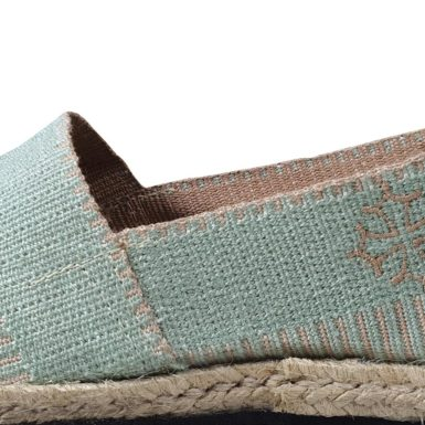 Espadrille menthe Made in France